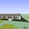 Plan 3D d'une résidence en cours de construction dans le Morbihan