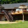 terrasse en bois suspendue
